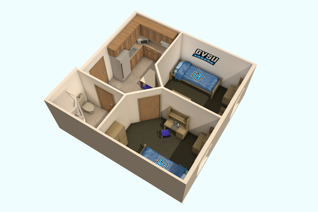 Bedroom Layout With Desk